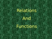 ENTREP411-Relations and Functions-PPT-SEM2-SY2012-2013