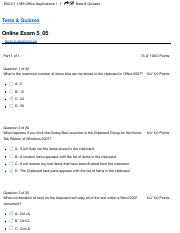 MS Office 1 Test 5
