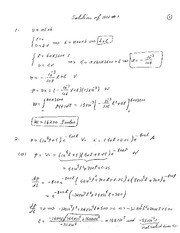 Solution of HW 1