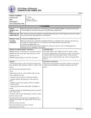 Coe Lesson Plan Template Yelommyphonecompanyco - University lesson plan template