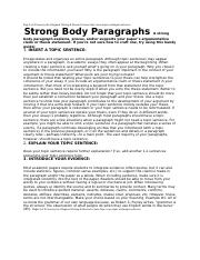 strong body paragraphs-3