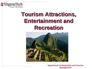 Chapter 8 Tourism Attractions Entertainment and Recreation
