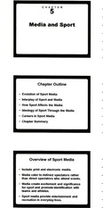 Chapter 5: Media and Sport