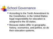 School Governance Structures Resume