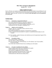 303 Exam 1 Study guide STUDENT S13