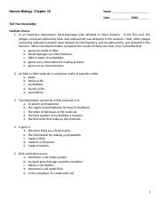 Honors Biology TYK  Chapter 10 and KEY