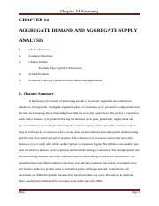 CHAPTER 14 Aggregate demand and Aggregate supply Chapter Summary.pdf