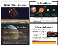 Lecture 8 - Jovian Planet Systems