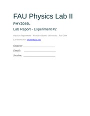 FAU Physics Lab II - Exp.2
