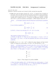 MATH 255 Fall 2014 Assignment 3 Solutions