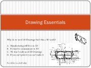 Lecture 4 - Basic Drawings