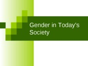Gender in Today's Society Fall 08