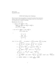 Stat 231 Marginal PDFs Homework Solutions