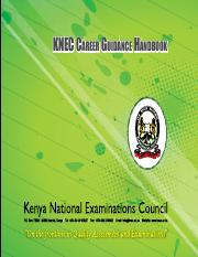 KNEC Career Booklet Booklet 2015newLATEST