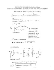 CHEM 281 2011-3 Lecture Notes 30 - WEEK 11