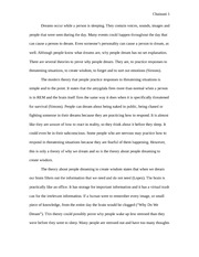 Sleep and Dreams Essay