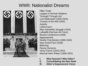 Nationalist Dreams and Nightmares WWII