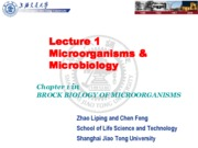 01-2 Lecture 1 Microorganisms and mcirobiology