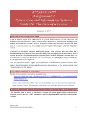 ACF ACC 2400 Assignment 2 s2 2017_Cybersecurity  Internal Controls.pdf