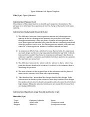 Ashley Yaffe - [Template] 05 - Types of Mixture Lab Report Template