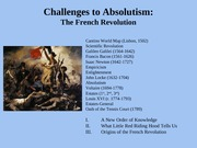 Challenges to Absolutism