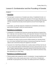 Lesson 5- Confederation and the Founding of Canada .docx