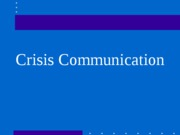 08 Crisis Communication