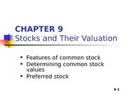 Chapter 09 - Stock evaluation