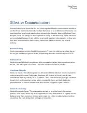 Effective Communicators