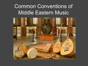 Common Conventions of Middle Eastern Music