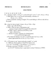 Exam 1 2006 - Solutions
