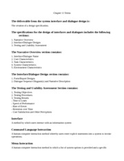 System Analysis and Design Chapter 11 Terms
