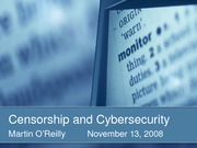Censorship and Cybersecurity