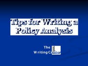 Writing-a-Policy-Analysis