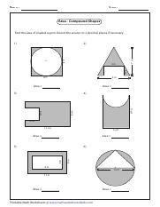 volume compound shapes homework - Name Score Volume ...