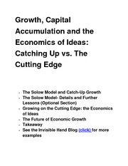 Growth, Capital Accumulation  class notes