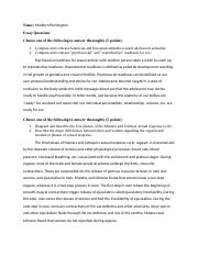 Exam # 2 Essay questions.docx