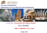 (3) Wael Alnahhal-Analysis of Structures-Trusses-final