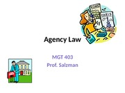 MGT 403 Agency Law(1)