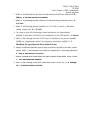 Unit 1 Chapter 3 Review Questions