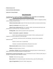 PS 101 Unit II Studyguide(1)