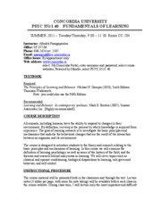 COURSE_SYLLABUS_-_LEARNING_-LEC_40_-_SUMMER_2011