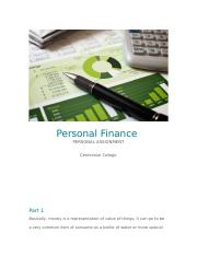 Personal Finance Report