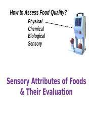 August 26 Sensory Attributes of Foods and Their Evaluation(3).ppt