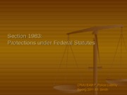 Protections under Federal Statutes