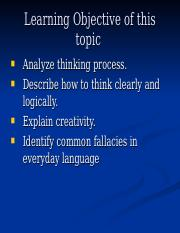 Session 1 Clear Thinking.ppt