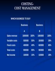 8 COSTING- WHICH BUSINESS TO BUY