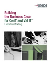 Building the Business Case for COBIT and Val IT Executive Briefing PDF