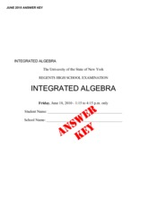 Integrated Algebra Practice Exam 5 with Answers