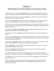 Chapter 5 - Multimedia Security Based on Exrinsic Data